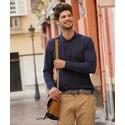 Мужская футболка поло с длинным рукавом