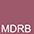 MDRB Тёмно-Красный / Чёрный Меланж
