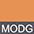 MODG Оранжевый Меланж / Тёмно-Серый