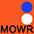 MOWR Оранжевый / Белый / Ярко-Синий